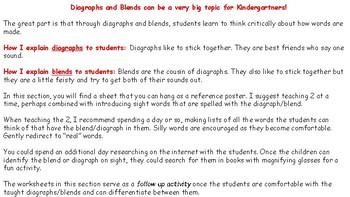 18 pages w/ Diagraph explanation, chart to hang in room & 16 practice worksheets
