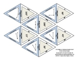 18 self-checking geometry Flash Cards set - angles supplementary complimentary