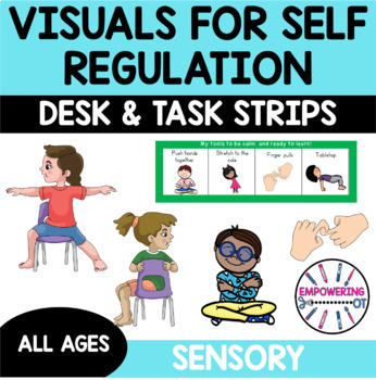 18 visuals for sensory motor calming strategies yoga brain breaks desk lanyard