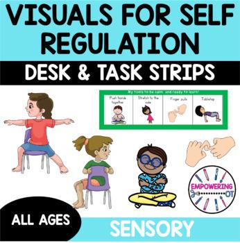 36 visuals for sensory motor calming strategies yoga brain breaks desk lanyard