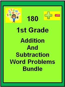 180 1st Grade Addition and Subtraction Word Problems BUNDLE