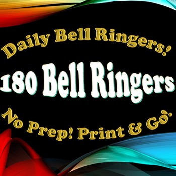 180 Bell Ringers / Do Nows! Full Year!