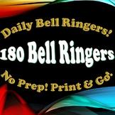 180 Bell Ringers / Do Nows! Full Year!