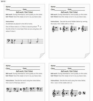 180 Bell Work Assignments for the Music Classroom