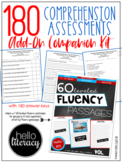 180 Comprehension Assessments for 6-12th Fluency Passages