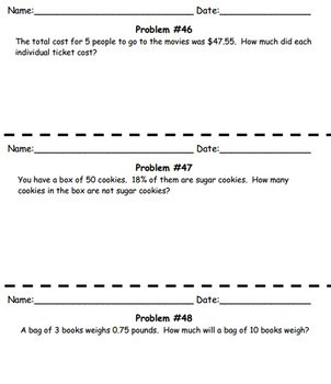 180 Daily Middle School Math Word Problems