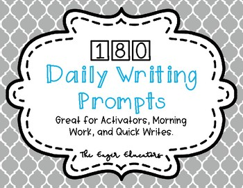 180 Daily Writing Prompts