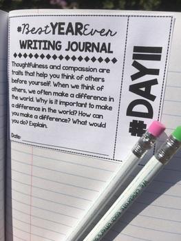 180 Days #BestYearEVER Writing Journal (1st Half 1-90)