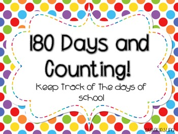 180 Days and Counting! Primary Edition
