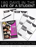 180 Days in the Life of a Student – EDITABLE Memory a Day Class Journal Kit