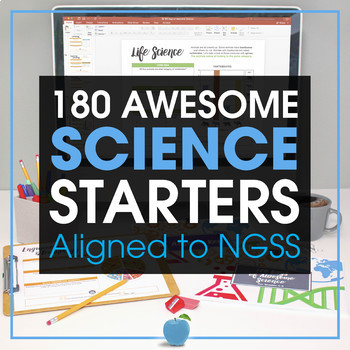 180 Days of Awesome Science- Middle School Bell Ringers, Test Prep, Exit Slips