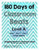 180 Days of Classroom Beats - Level A - 3 PACK BUNDLE - Sc