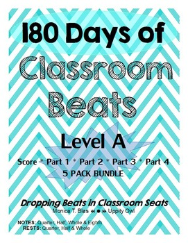 180 Days of Classroom Beats - Level A - 5 PACK BUNDLE