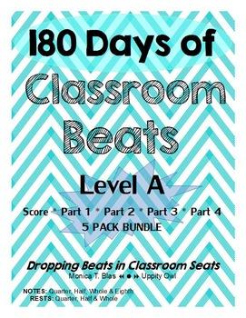 180 Days of Classroom Beats - Level A - 5 PACK BUNDLE