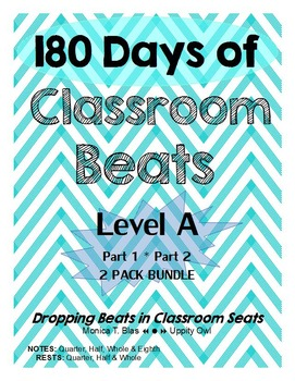 180 Days of Classroom Beats - Level A - 2 PACK BUNDLE - PA