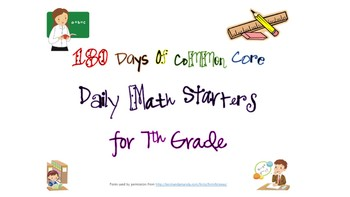180 Days of Common Core - Daily Math Starters