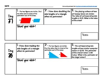 180 Days of Common Core - Daily Math Starters Part 2