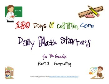 180 Days of Common Core - Daily Math Starters Part 3