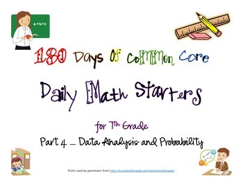 180 Days of Common Core - Daily Math Starters Part 4