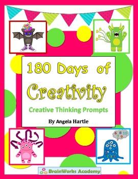 180 Days of Creativity - Daily Holiday/Seasonal Creative Thinking Prompts