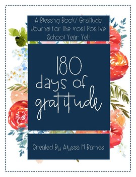 180 Days of Gratitude- A Gratitude Journal for Teachers