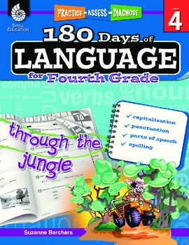 180 Days of Language for Fourth Grade (eBook)