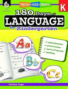 180 Days of Language for Kindergarten Grade (eBook)