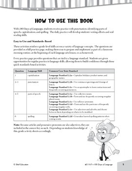 180 Days of Language for Second Grade (Week 10 eLesson)