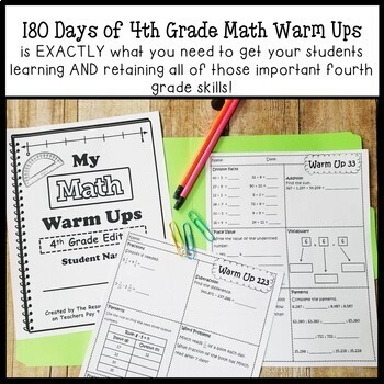 180 Days of Math Warm Ups (4th Grade Edition)