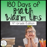 180 Days of Math Warm Ups (4th Grade Edition)