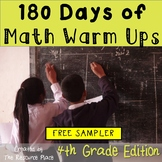 180 Days of Math Warm Ups (4th Grade Edition) - FREE SAMPLER!