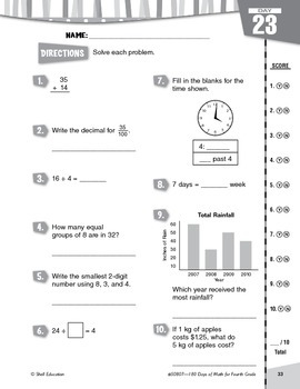 180 Days of Math for Fourth Grade (Week 5 eLesson)