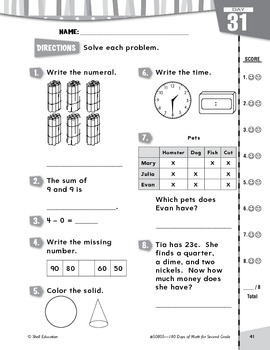180 Days of Math for Second Grade (Week 7 eLesson)