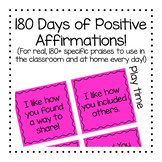 180 Days of Positive Affirmations and Specfic Praise (prin