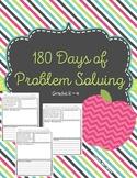 180 Days of Problem Solving for Grades 2 - 4