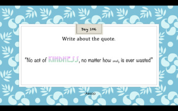 180 Days of Quick Writing Prompts -Daily Writing Prompt SAMPLE