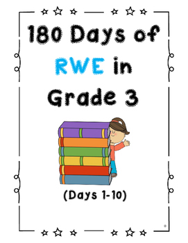 180 Days of Reading, Writing, Editing and Grammar Work in Grade 3 (Days 1-10)