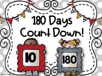 180 Days of School Bulletin Board Set