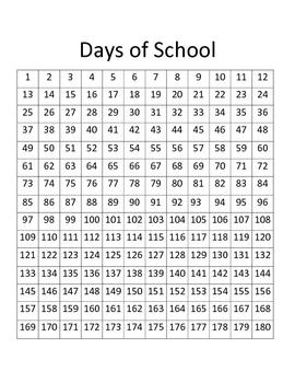 180 Days Of School Chart By Devoted Teacher Teachers Pay