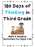 180 Days of Thinking In Grade 3 (Days 1-50)