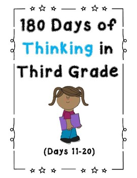 180 Days of Thinking In Grade 3 (Days 11-20)
