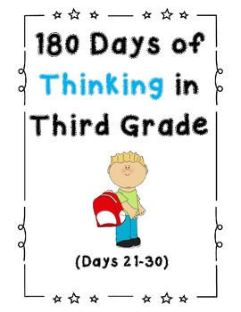180 Days of Thinking In Grade 3 (Days 21-30)