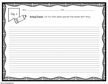 180 Days of Writing Prompts FREE Sample