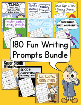 180 Fun Writing Prompts Bundle