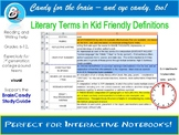 180 Literary Terms in Kid Friendly Definitions