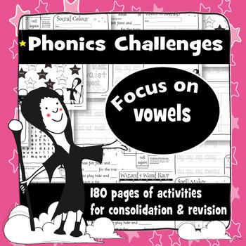 180 Phonics Revision Activities: Vowel Sounds Mega Bundle