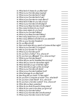 180 Questions for 180 Days