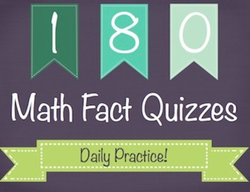 180 Daily Math Fact Quizzes - A Year of Daily Practice 2nd/3rd
