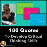 Critical Thinking Writing Prompts - 180 Quotes
