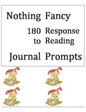 Response to Reading Journal Prompts {ALL YEAR} 180 prompts!